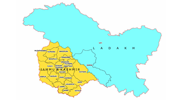 map of jammu Kashmir