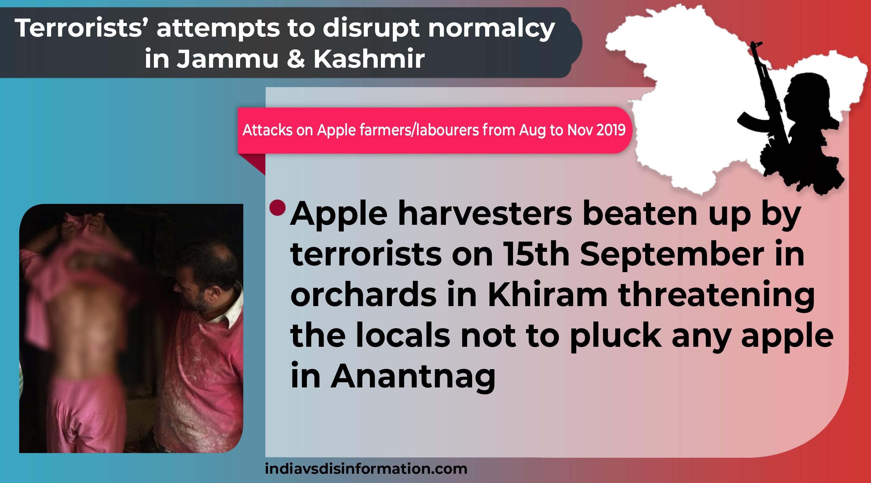 Attacks on Apple Farmers