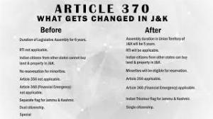 Before and after Article 370
