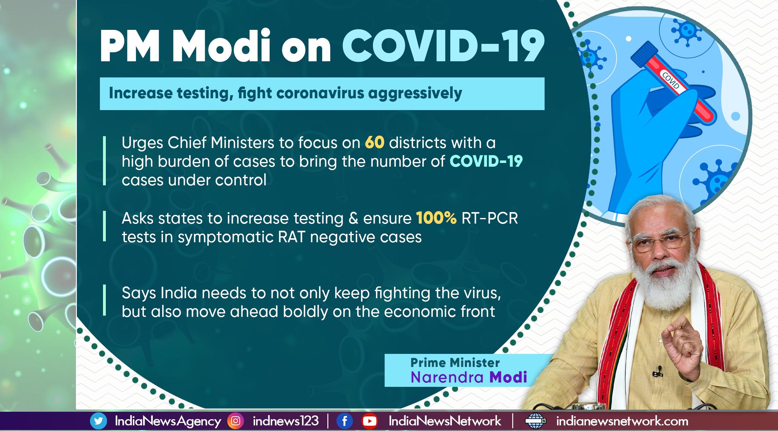 Fighting COVID-19: PM Modi asks 7 states to focus on 60 districts