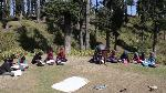 Government teacher conducts open air classes in Sangerwani in Pulwama