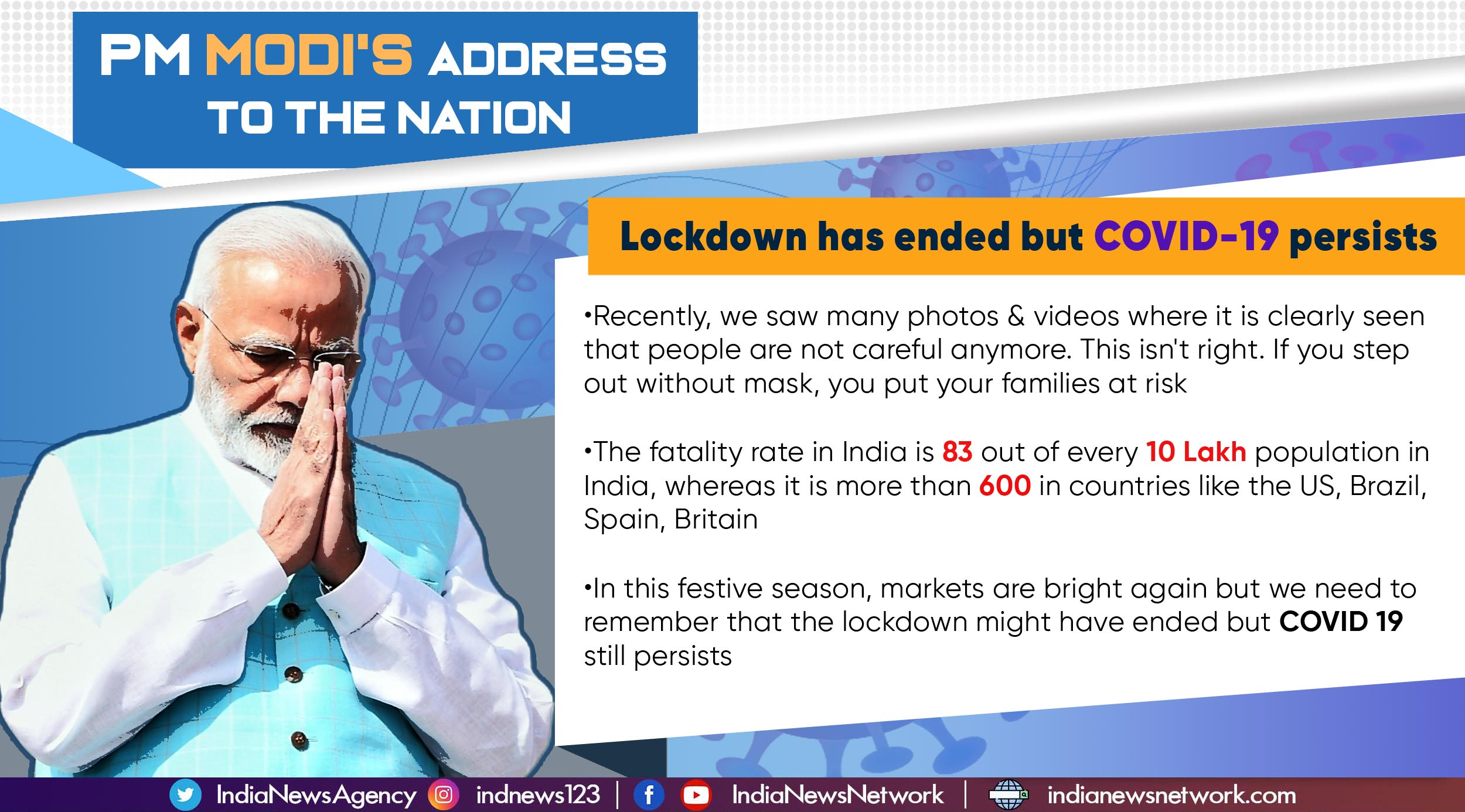 Key points from PM Narendra Modi's address to the nation