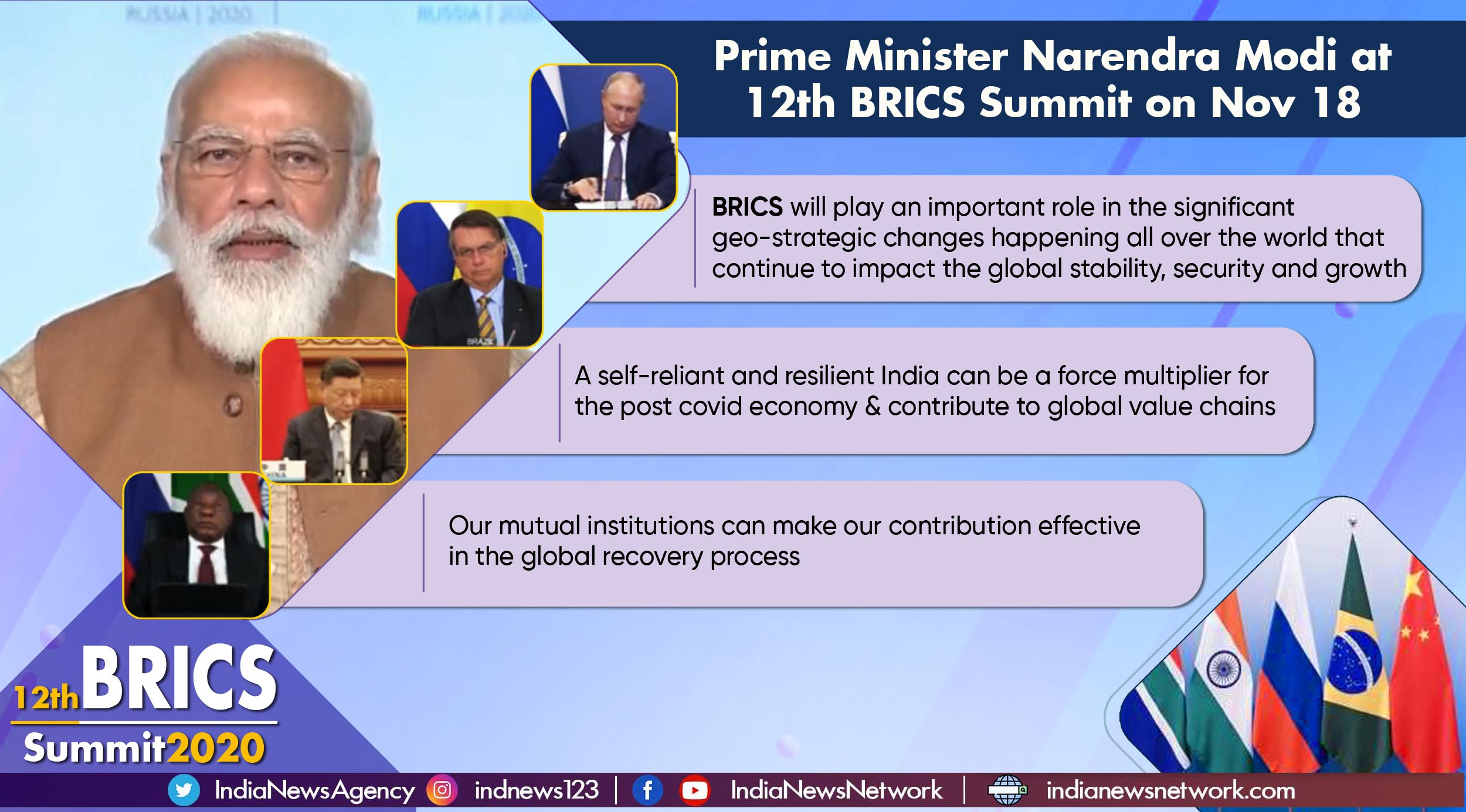 Key highlights from PM Modi's address at the 12th BRICS Summit