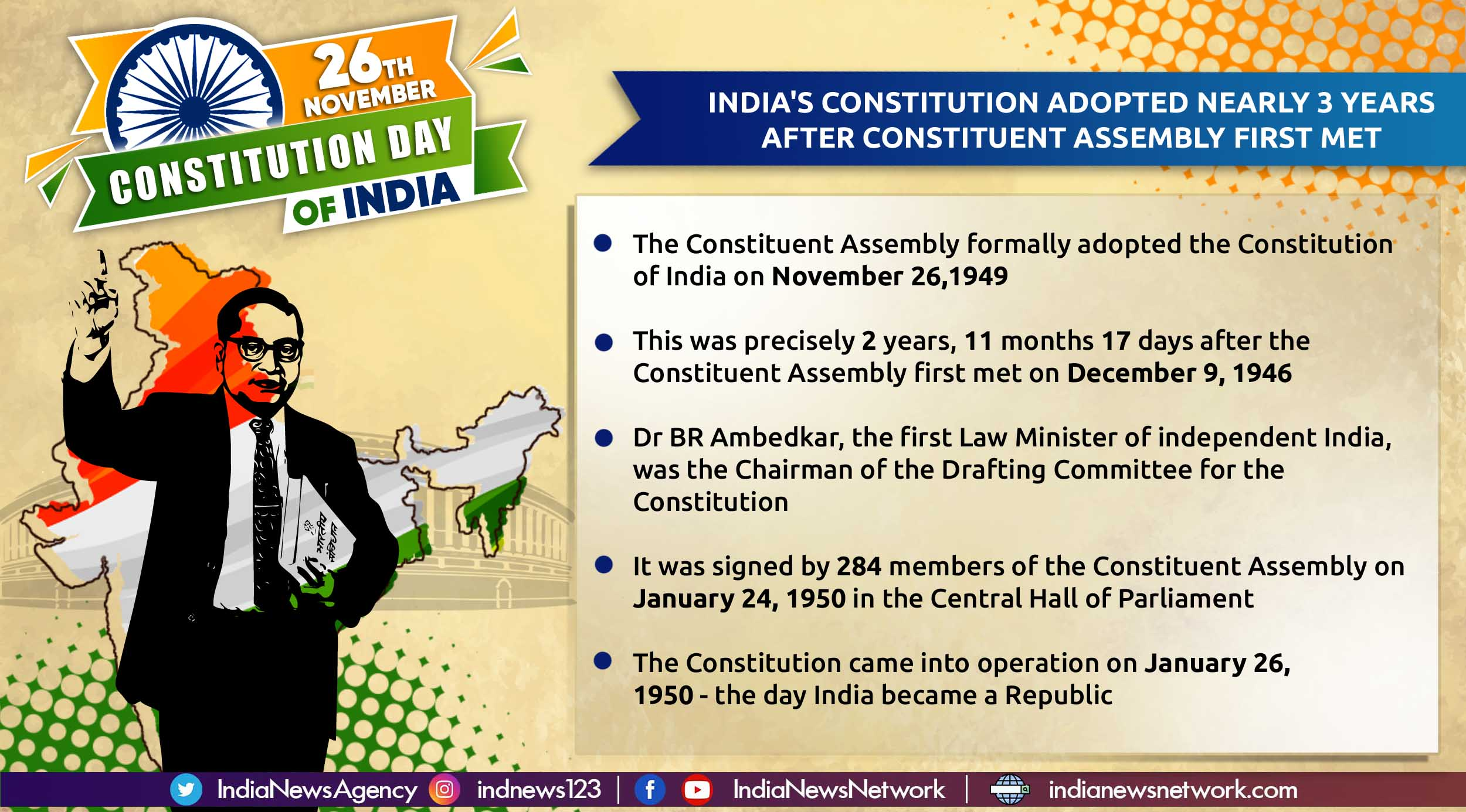 Why India observes Constitution Day on November 26