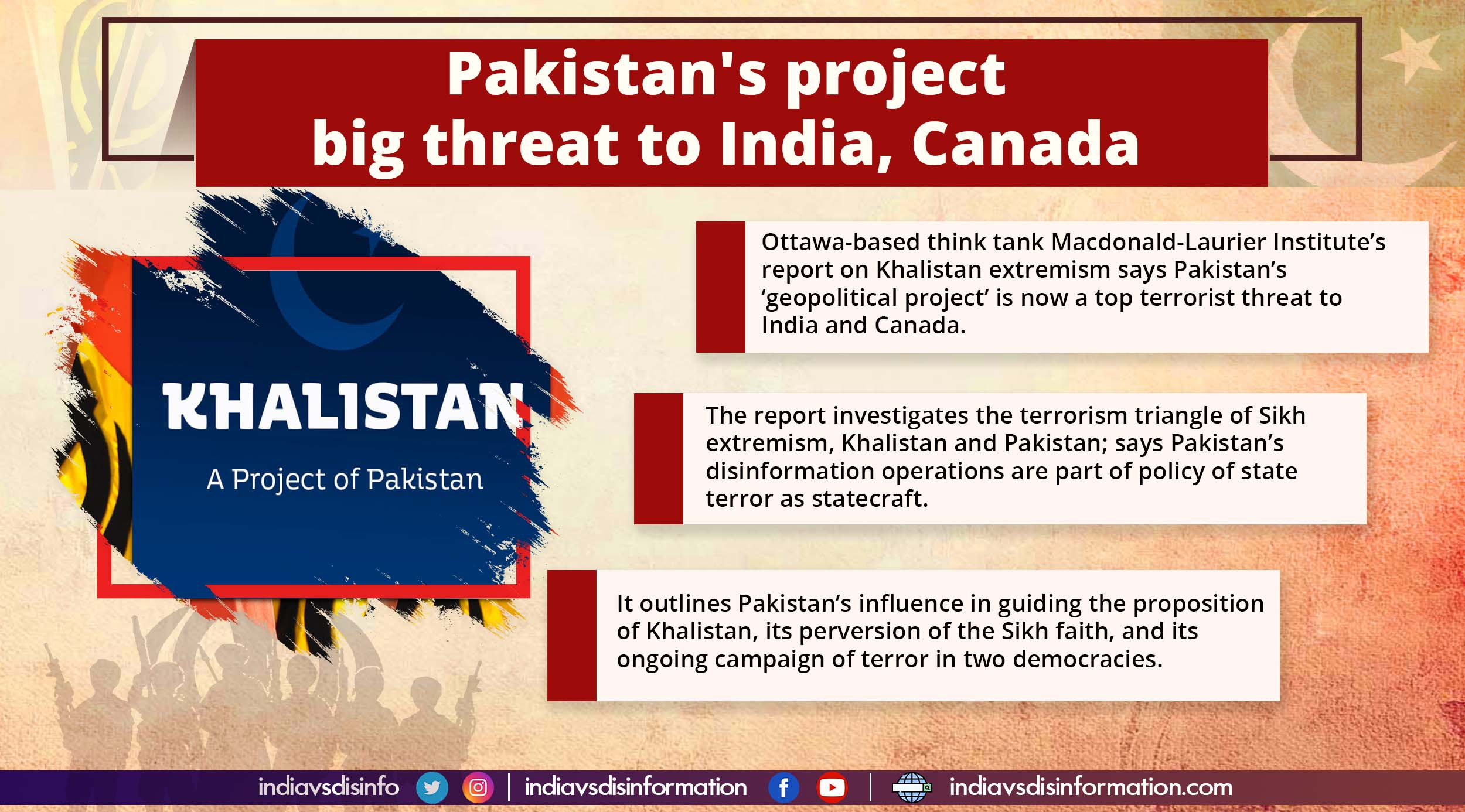 Khalistan a 'pet project' of Pakistan, says Canadian think tank